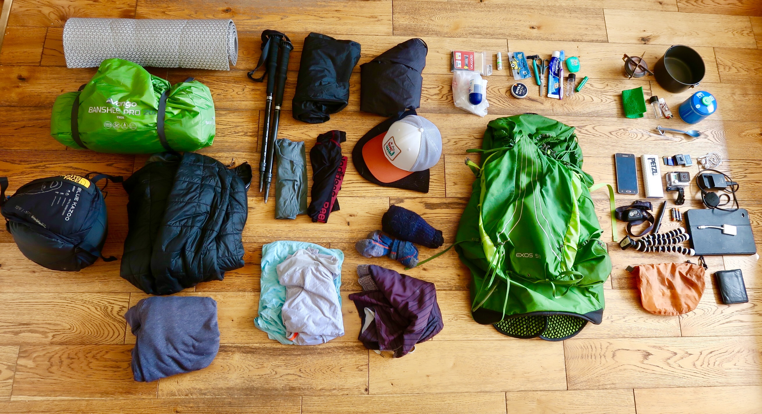 Gear list for hiking ireland